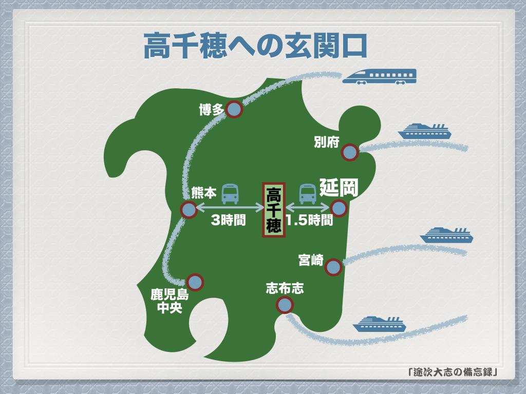 熊本からまたは宮崎から高千穂観光へ