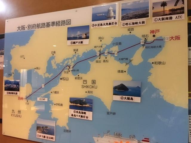 瀬戸内海航路図