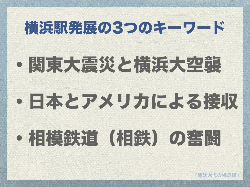 横浜駅発展の3つのキーワード
