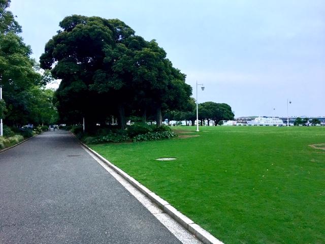 山下公園内芝生占領軍住宅地